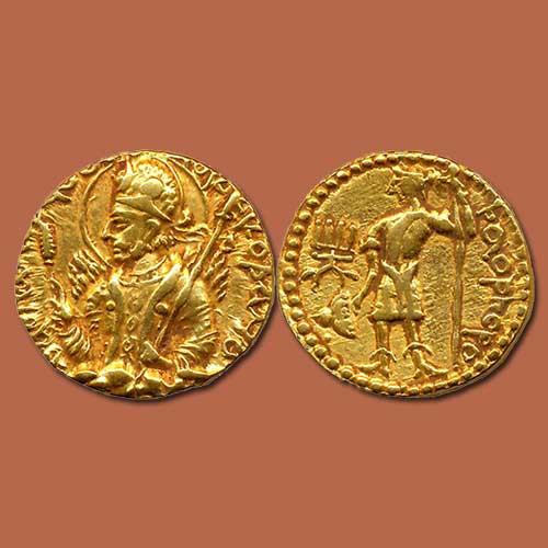 Gold-Dinar-of-Huvishka-Sold-For-INR-2,20,000
