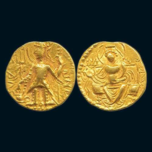 Gold-Dinar-of-Later-Kushan-ruler-Vasudeva-II