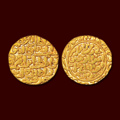 Gold-Dinar-of-Shams-Al-Din-Ibrahim-Shah