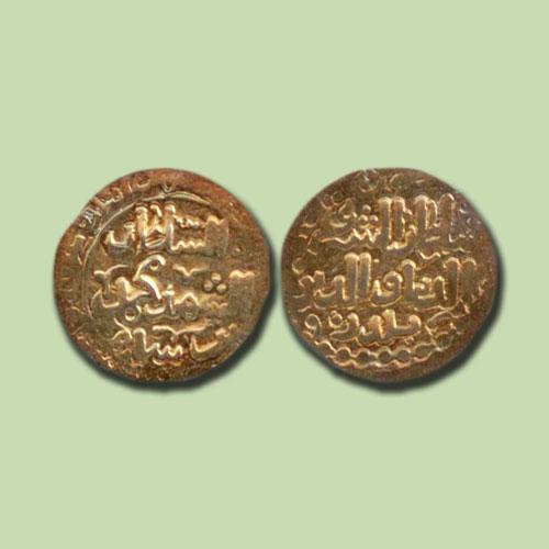 Gold-Dinar-of-Taj-al-Din-Yildiz