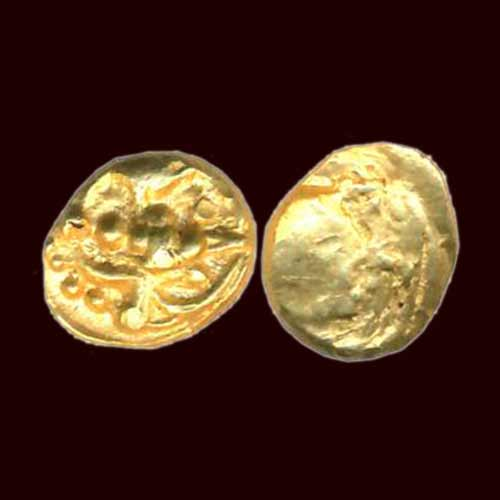 Gold-Double-Fanam-of-Silaharas-of-Kolhapur