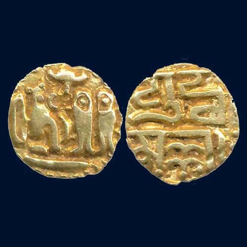 Gold-Fanam-of-Imperial-Cholas-King-Rajaraja-I