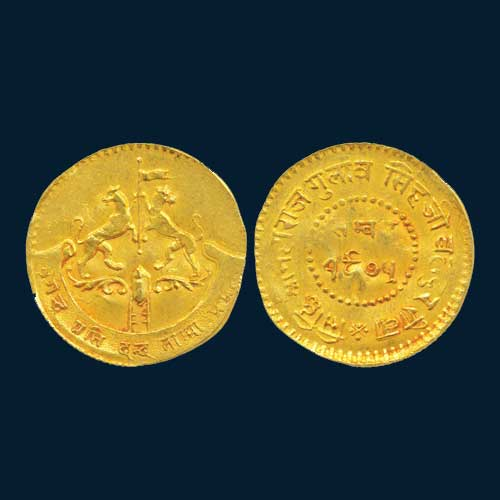 Gold-half-Mohur-of-Rewa