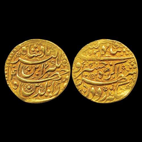 Gold-Heavy-Mohur-of-Jahangir