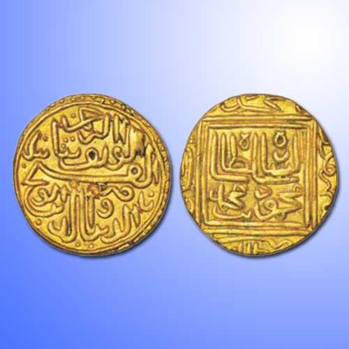 Gold-Heavy-Tanka-of-Nasir-Al-Din-Muhammad-Shah-I