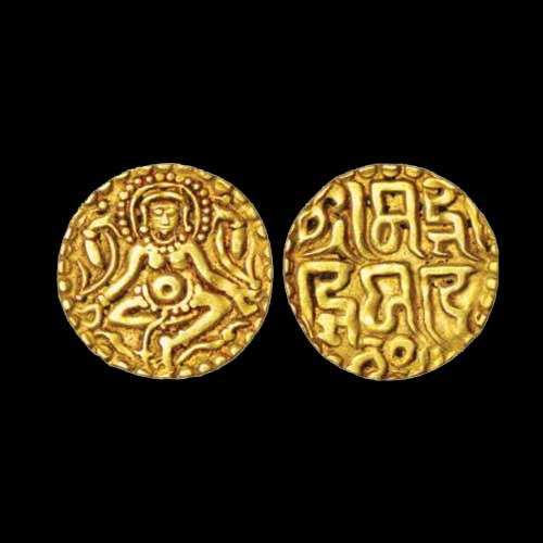 Gold-Masha-of-Gangeya-Deva-sold-for-INR-14,000