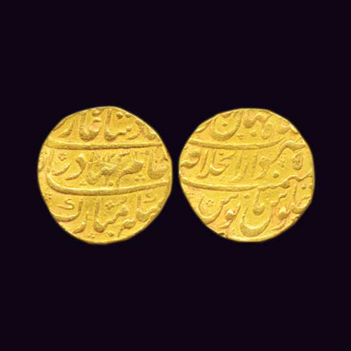 Gold-Mohur-of-Shah-Alam-Bahadur-Listed-For-INR-45,000