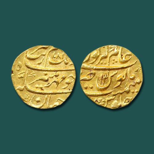 Gold-Mohur-of-Aurangzeb-listed-for-INR-100000