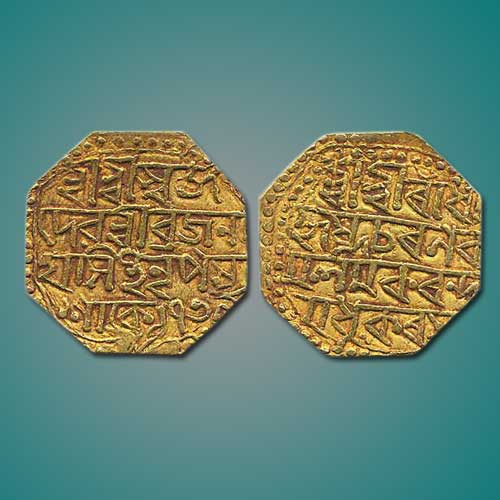 Gold-Mohur-of-BrajanathaSimha-of-Princely-State-Assam