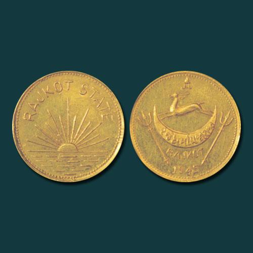 Gold-Mohur-of-Dharmendra-Singhji-sold-for-INR-80,000
