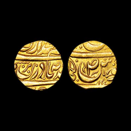 Gold-Mohur-of-Mahindar-Singh-of-Patiala-