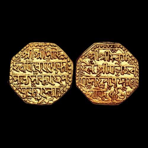 Gold-Mohur-of-Rajesvara-Simha