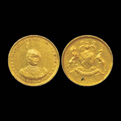 Gold-Nazarana-Half-Mohur-Princely-State-Datia