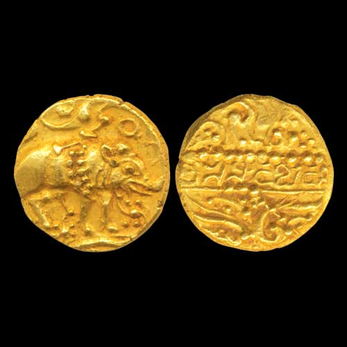 Gold pagoda of chalukyas of badami mintage world - Coin de finition plinthe ...