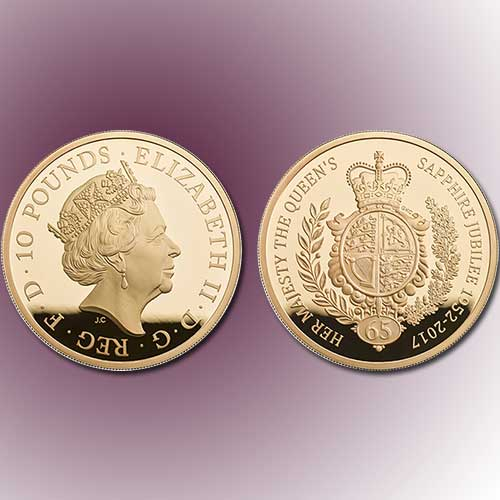 Gold-Pound-coin-mark-65th-year-of-Queen-Elizabeth-II