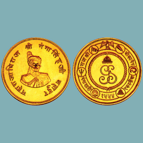 Gold-Proof-Nazarana-Rupee-of-Ganga-Singh-sold-for-INR-25,00,000
