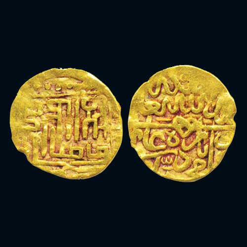 Gold-Quarter-Ashrafi-of-Mughal-Emperor-Babur