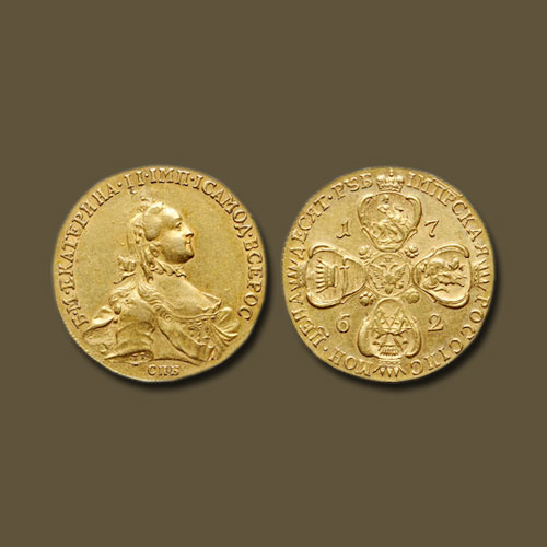 Gold-Ruble-of-Catherine-the-Great