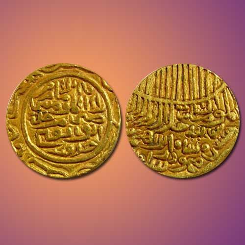 Gold-Tanka-of-Hussain-Shah-of-Jaunpur-Sultanate