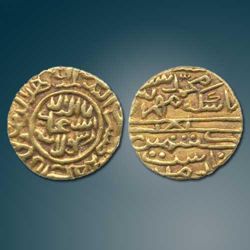 Gold-Tanka-of-Kashmir-Sultan-Muhammad-Shah