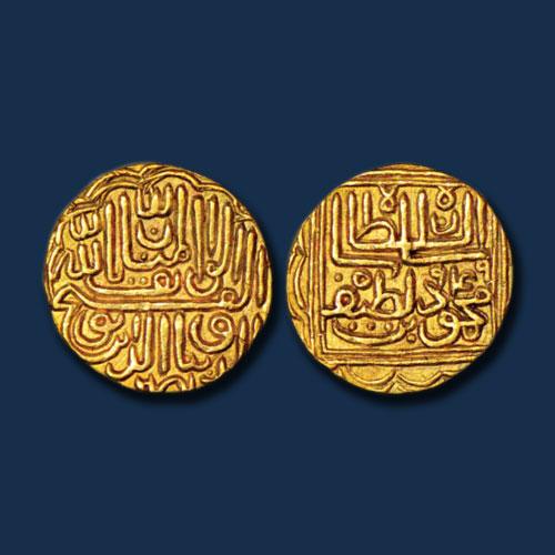 Gold-Tanka-of-Nasir-al-Din-Mahmud-III