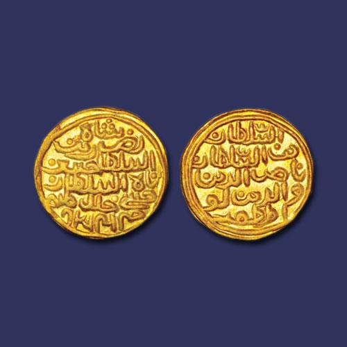 Gold-Tanka-of-Nasir-al-Din-Nusrat-Shah