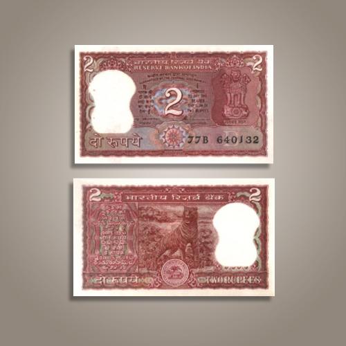Grab-Two-Rupees-Tiger-Note-of-S.-Venkitaramanan,-1991