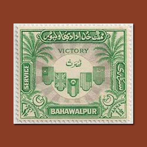 Green-stamp-of-Bahawalpur