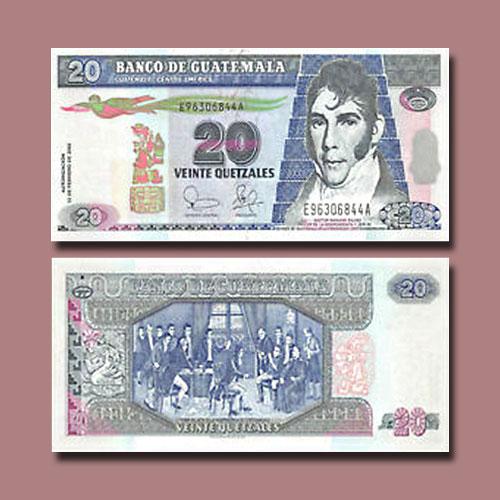 Guatemala-20-Quetzales-banknote-of-2003