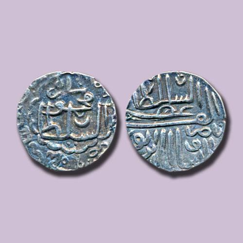 Gujarat-Sultan-Nasir-Al-Din-Mahmud-Shah-I-Silver-Tanka