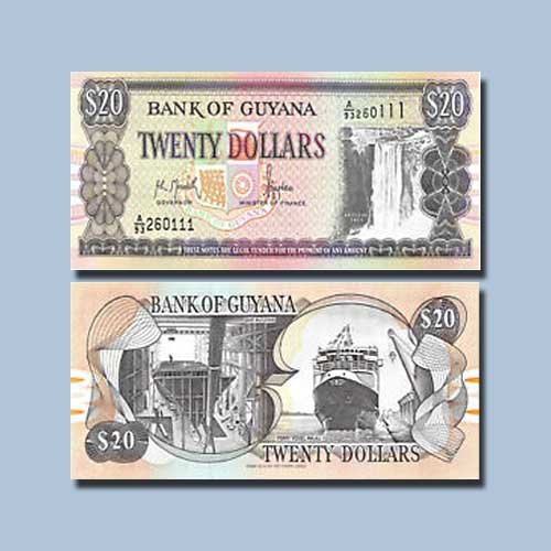 Guyana-20-Dollar-banknote-of-1996