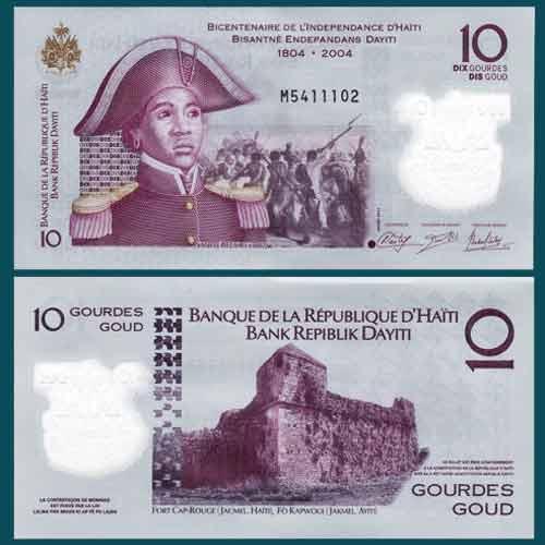 Haiti 10 Gourdes Banknote World Paper Money UNC Currency Bill Note