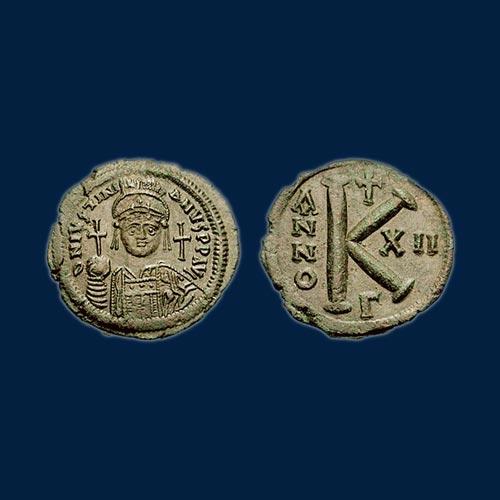 Half-Follis-of-Justinian-I