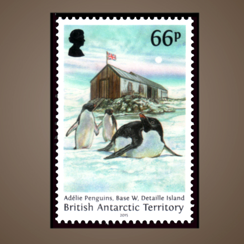 Halley-Research-Station-of-Antarctica-Stamp
