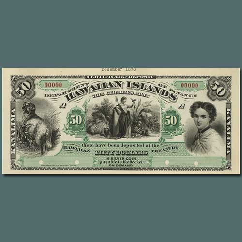 Hawai?I's-First-Paper-Money