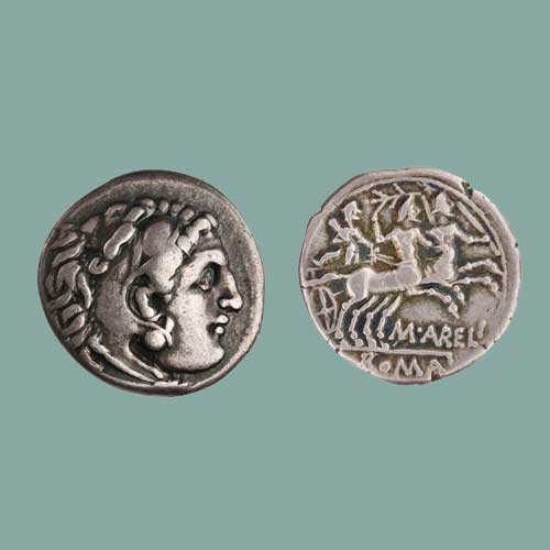 Hero-of-Roman-legend-on-Coins