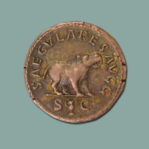 Hippopotamus-on-Roman-coins