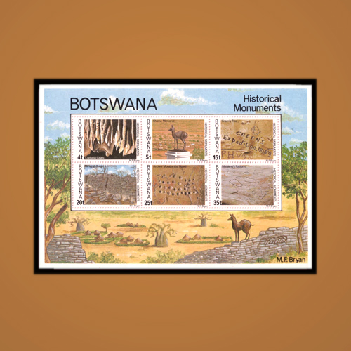 Historical-Monuments-of-Botswana-through-Stamps-