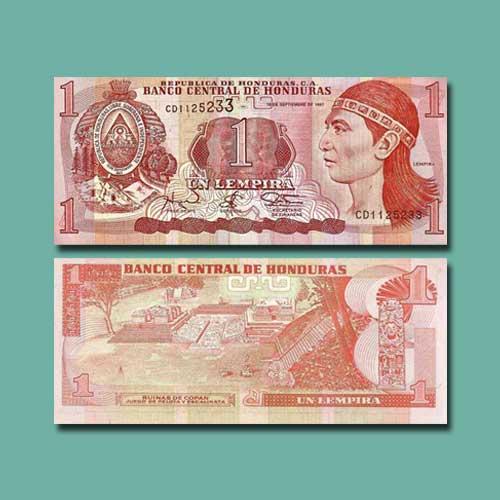 Honduras-1-Lempira-banknote-of-1997