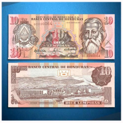 Honduras-10-Lempiras-banknote-of-2004