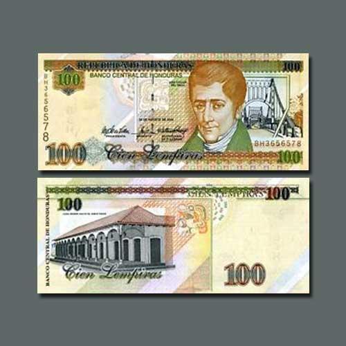 Honduras-100-Lempiras-banknote-of-2004