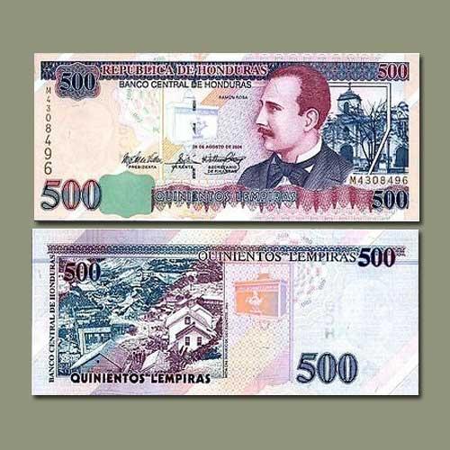 Honduras-500-Lempiras-banknote-of-2004