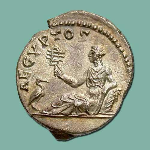 Ibis-illustrated-on-Roman-coin