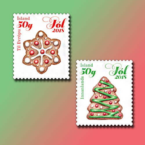 Iceland-Issues-Tasty-Gingerbread-Stamps