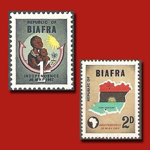 Independence-Stamps-of-Biafra