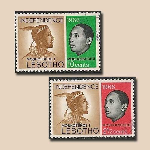 Independence-Stamps-of-Lesotho