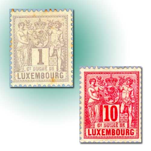 Industry-and-Commerce-Stamps-of-Luxembourg