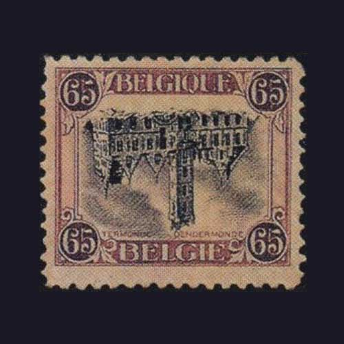 Inverted-Dendermonde-stamp-of-Belgium
