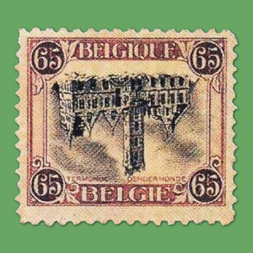 Inverted-stamp-of-Belgium