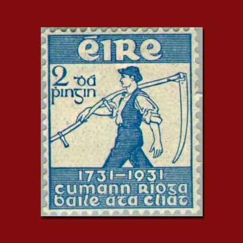 Ireland's-Royal-Dublin-Society-2nd-Centenary-Stamp